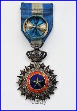 Ordre du Nicham el Anouar, étoile d'officier, argent et vermeil, 19° siècle
