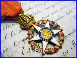 Ordre impérial de la Rose (Empire du Brésil) Chevalier Vermeil ca. 1850 -RARE