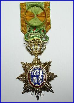 Ordre imperial du Dragon d'Annam / Officier en vermeil / 006