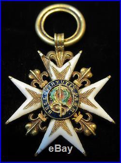 Ordre royal et militaire de Saint-Louis demi-taille Louis XVI