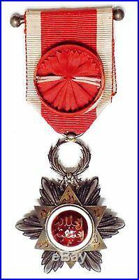 Ouissam Hafidien, étoile d'officier Arthus-Bertrand en écrin, Maroc 1910-1913