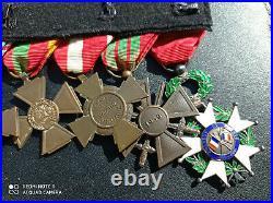 PL Placard de médailles françaises GUERRE 1939 1945 WW2 ALGERIE medal