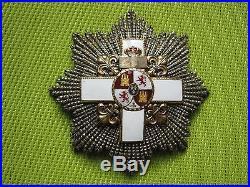 PLAQUE de GRAND CROIX ORDRE du MERITE MILITAIRE ESPAGNE Division Blanche