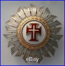 PORTUGAL Plaque ordre du Christ order breast star médaille medal ARGENT SILVER