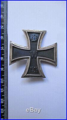 PRUSSE ALLEMAGNE authentique Croix de fer 1 ère classe à épingle