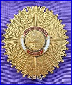 Pérou Ensemble de Grand Croix de l'ordre des services Distingués