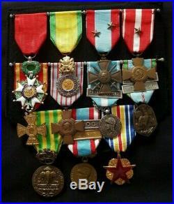 Placard Légion d'Honneur Médaille Militaire 1939 1945 TOE Coloniale Indochine