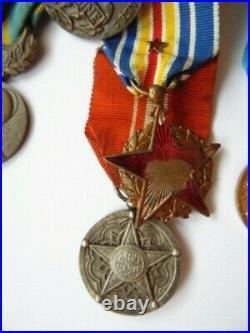 Placard Medailles Ancien Commando Marine 39-45 Fnfl Indochine Algerie Marine