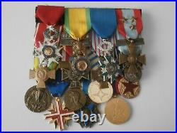Placard de 15 médailles pendantes guerres d'Indochine et d'Algérie