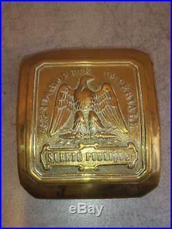 Plaque De Baudrier Durete Publique Gendarmerie Imperiale N° 1