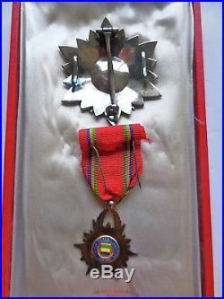 Plaque De Grand Officier De L'ordre De L'étoile Équatoriale Et Dfficier