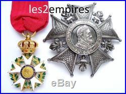 Plaque Ordre Légion D'honneur Restauration 1815 Louis XVIII Roi France Henri IV