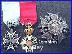 Plaque Ordre Légion D'honneur Restauration & Croix Saint Esprit 1816 Louis XVIII