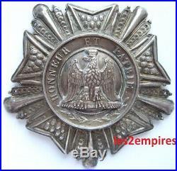 Plaque Société Débris Armée Napoléon Premier Empire Type Aigle Légion D'honneur