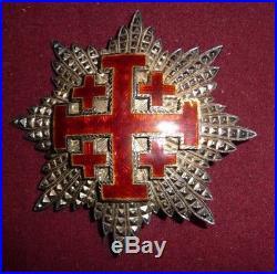 Plaque de Grand Croix de l'Ordre du Saint Sépulcre