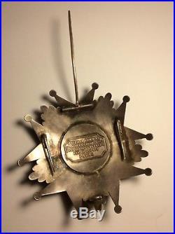 Plaque de Grand Croix ordre Légion D'honneur Médaille Ouizille Lemoine Empire