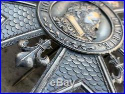 Plaque de Grand Croix ou Grand officier Legion d'Honneur Restauration