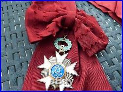 Plaque de grand croix avec ruban de l'ordre de la Couronne Leopold II Belgique