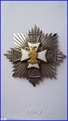 Plaque de l'Ordre de Saint Jean Baptiste. Résistance Franco-Polonaise