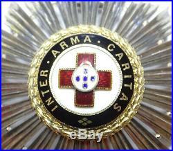 Plaque de l'ordre croix rouge portugaise, exceptionelle en argent! / A004
