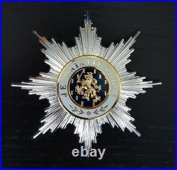 Plaque grand croix Ordre d'Orange Nassau Pays-Bas Order Netherlands TBE
