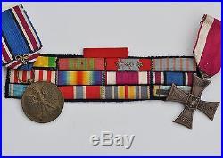 Pologne Croix de la Vaillance, 1920, numérotée, sous officier français 14-18
