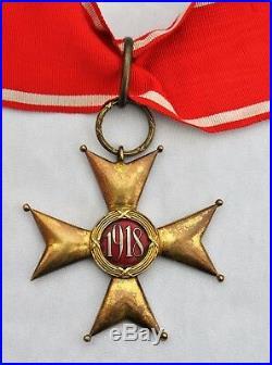 Pologne Ordre de la Pologne Restaurée, croix de commandeur, 1er modèle, 1918