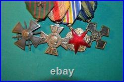 Portée de médaille croix de guerre poilu guerre 14-18 front d'orient
