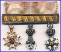 Portée de réductions de Saint Louis, Lys et Légion dhonneur