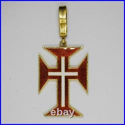 Portugal. Médaille de commandeur de lordre du Christ en or et émail