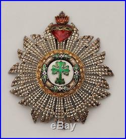 Portugal Ordre Militaire de St Benoit d'Aviz, plaque de Grand Croix, époque roy