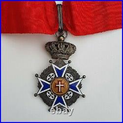 Portugal Ordre Militaire du Christ, croix de commandeur en vermeil, centres or
