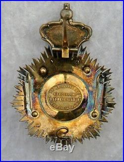 Portugal Ordre de Villa Vicosa, plaque de grand crois signée Dupetitbosq
