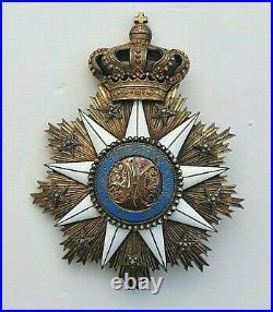 Portugal Ordre de Villa Vicuosa, plaque de Grand Croix en vermeil et émail