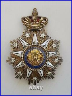 Portugal Ordre de Villa Viscosa, plaque de grand croix, vermeil et émail