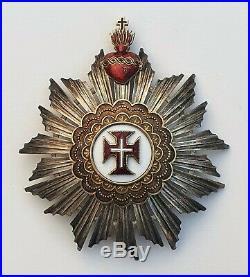 Portugal Ordre du Christ, plaque de grand croix signée Da Costa à Lisbonne
