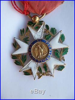Premier Empire Légion d'Honneur Officier 1er Type 1804 en OR grosse tête
