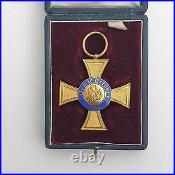 Prusse Ordre de la Couronne, chevalier de 2° classe en bronze doré, écrin