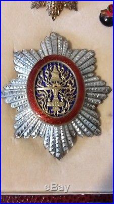 RARE Coffret Grand Officier Ordre Royale du Cambodge