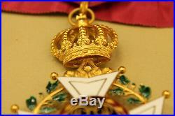 RARE Commandeur 1er type ordre de Léopold attribué Grand chambellan Napoléon III