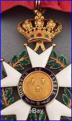 RARE Commandeur de la Légion d'Honneur période Restauration en or Superbe