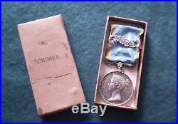 RARE Médaille de Crimée avec agrafe TRAKTIR dans sa boîte d'origine