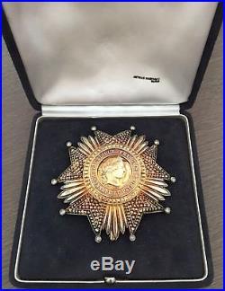 RARE Plaque Grand-Croix Légion d'Honneur Viè Rép. De luxe avec brillants Sup