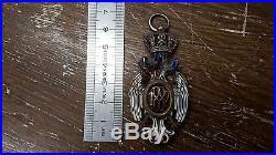 Rare Serbie Medaille Ordre De L'aigle Blanc 1882 Argent Emaille Lot4
