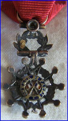 REDUCTION CHEVALIER LEGION D'HONNEUR or & brillants MAIRE XI° Arrondt PARIS 1889