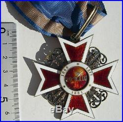 ROUMANIE COMMANDEUR DE L'ORDRE DE LA COURONNE neck badge