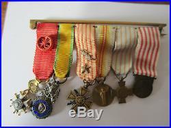 Rare Barete De Medailles Miniatures Guerre De 14 18 Ww1 Legion D Honneur Etc Tbe