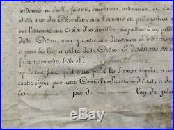 Rare Brevet Chevalier Ordre De Saint Louis 1788 À Alexandre Louis De Fontbonne