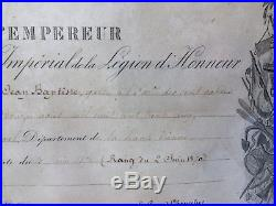 Rare Diplôme Médaille Militaire Escadron Cent-Gardes Napoleon Empire 19e Cav