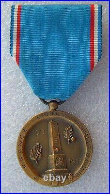 Rare Medaille 1914-1918 Medaille De Darney